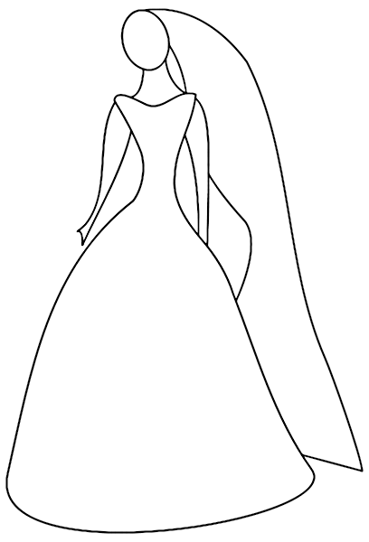 Bride Outline Holiday Wedding Bride Groom Bride Outline Png Html