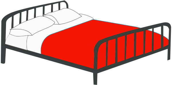 Double Bed Red Household Bedroom Bed Colors Double Bed