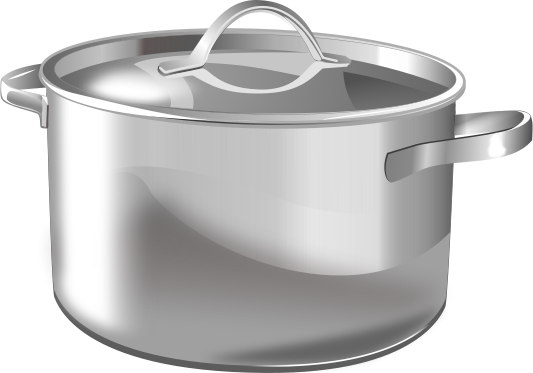 Large Silver Pot Household Kitchen Pots Pans Large