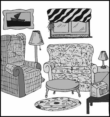 Living room household living room living for A living room clipart