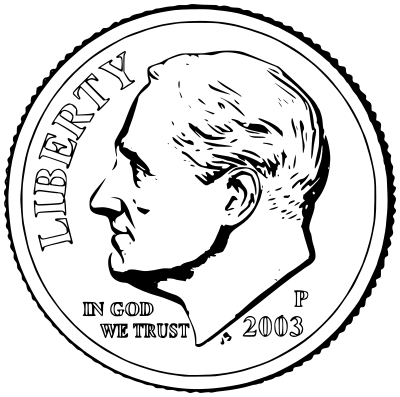 dime clipart black and white - photo #4