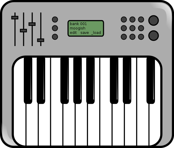how to draw a synthesizer