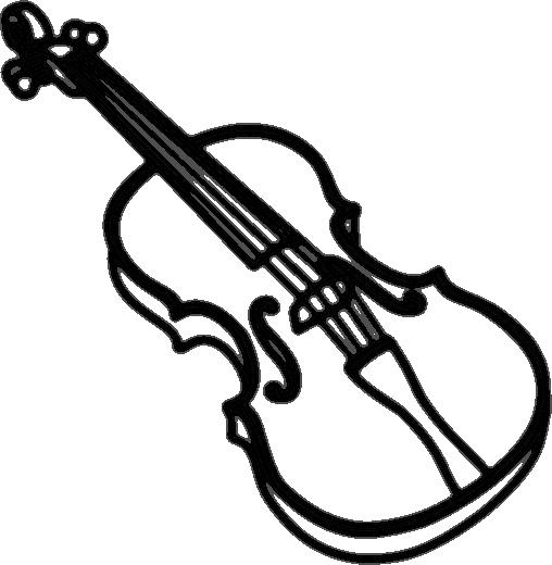 violin outline bold musicinstrumentsviolinviolin