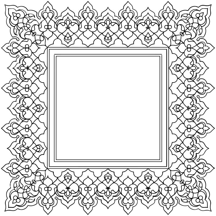 ornamental square page framesold ornate bordersornate