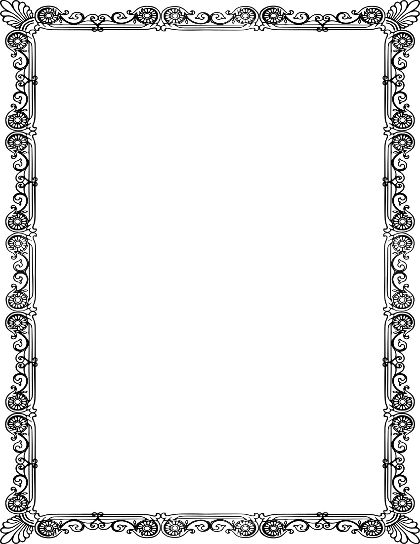 Ornate Frame Crisp Page Frames Old Ornate Borders