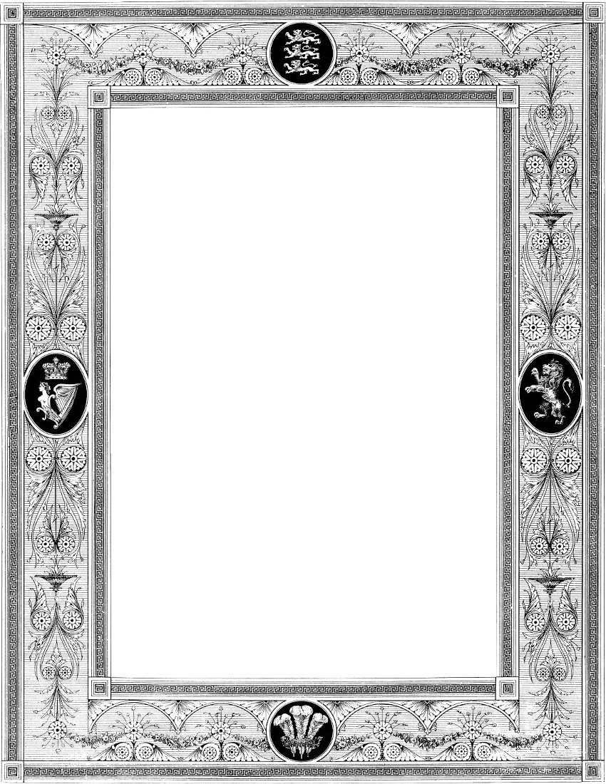 floral border - /page_frames/old_ornate_borders/victorian_border ...