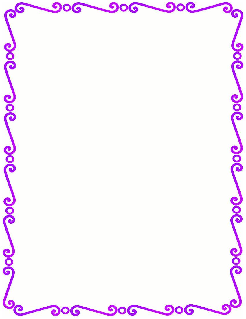 violet spirals border pageframesspiralborderviolet