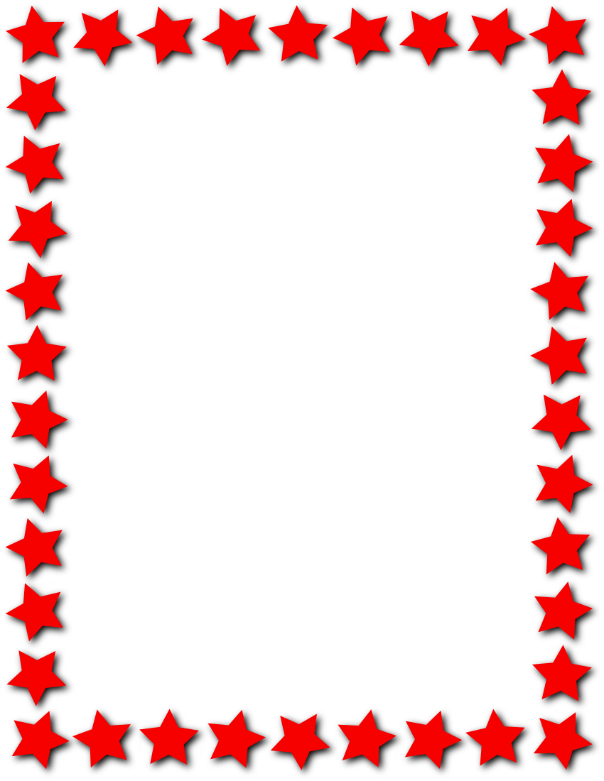 Star Frame Red Page Frames Star Border Star Frame Red