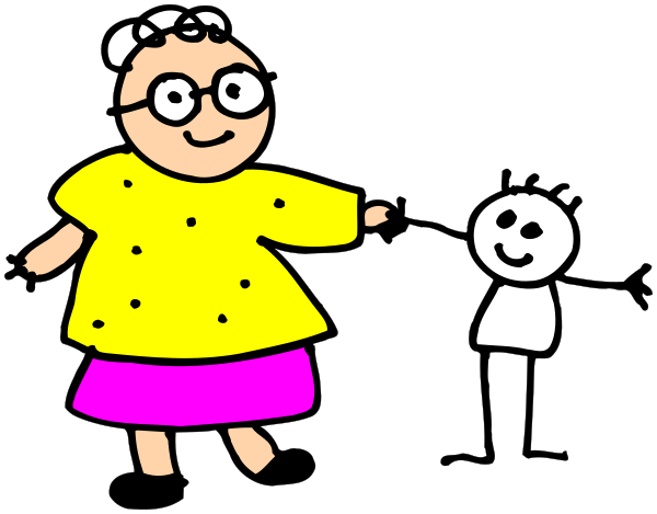 grandma stick   people  family  grandmother  grandma stick grandfather clipart free line drawing grandmother clipart pictures