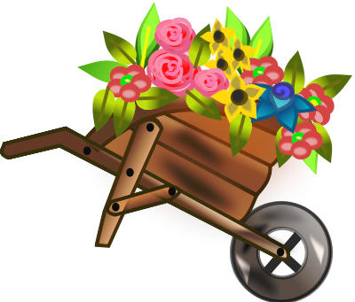 Wagon Filled With Flowers Plants Flowers No Name More
