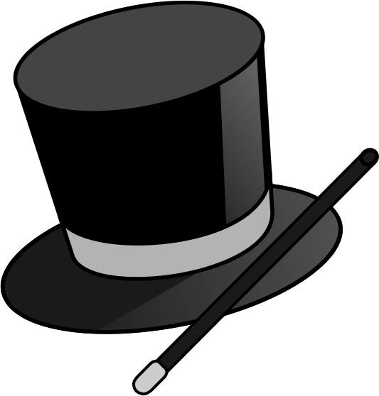 magic hat and wand   recreation  entertainment  magic  magic Magic Wand Clip Art magic hat clipart black and white