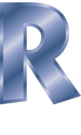 Blue Steel Letter Capitol R - Signssymbolalphabets -5429