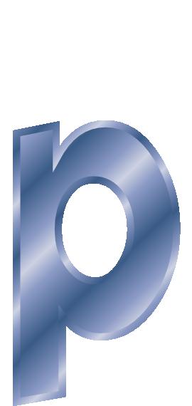 blue steel letter p  signs symbol  alphabets numbers  blue