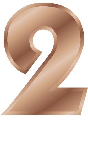 bronze number 2 - /signs_symbol/alphabets_numbers/bronze