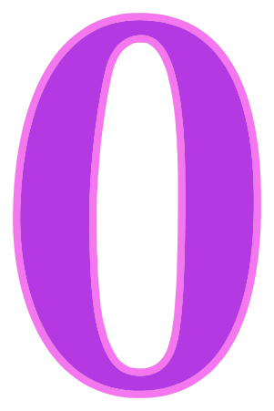 Number 0 Purple Signs Symbol Alphabets Numbers Color