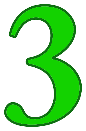 number 3 green - /signs_symbol/alphabets_numbers/color ...