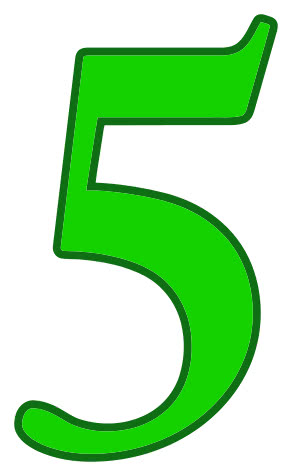 Number_5_green.png on Color By Number