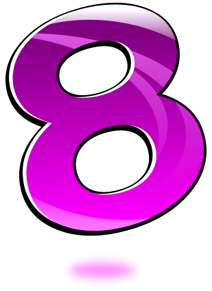 number 08 - /signs_symbol/alphabets_numbers/glossy_numbers
