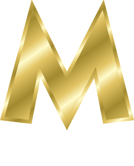 Gold Letter Capitol M Signs Symbol Alphabets Numbers
