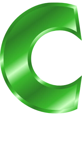 green metal letter capitol c   signs symbol  alphabets numbers clip art 70 numbers clipart for kids