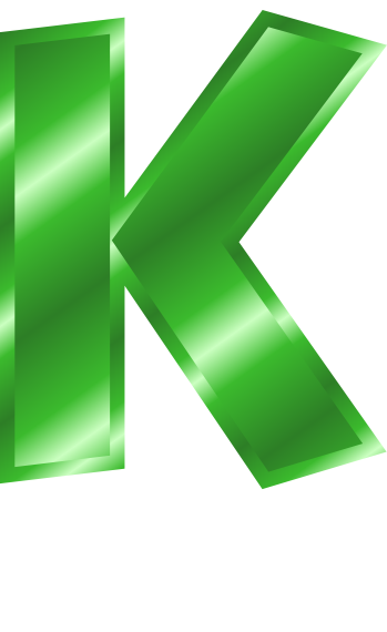green metal letter capitol k   signs symbol  alphabets number clipart free numbers clip arts