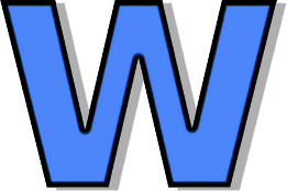 Lowercase W Blue Signs Symbol Alphabets Numbers