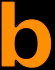Lowercase B Orange Signs Symbol Alphabets Numbers