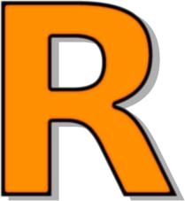 Capitol R Orange Signs Symbol Alphabets Numbers
