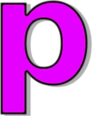 lowercase P purple - /signs_symbol/alphabets_numbers
