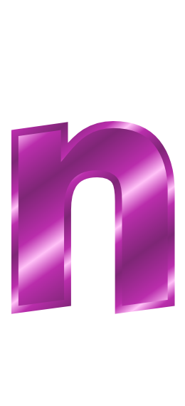 purple metal letter n   signs symbol  alphabets numbers letter clipart black and white letters clip art black and white