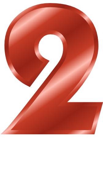 red metal number 2  signs symbol  alphabets numbers  red