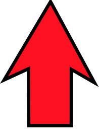Arrow sharp red up - /signs_symbol/arrows/arrow_large ...
