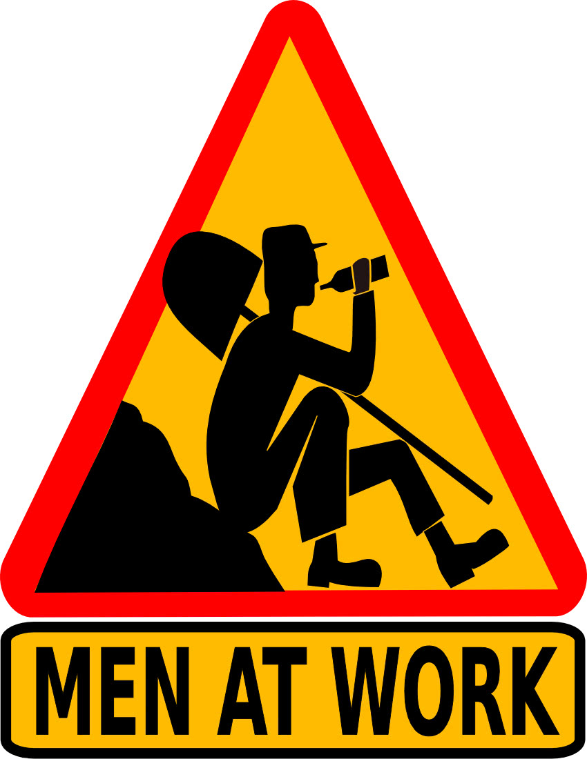 men at work   signs symbol  funny signs  men at work png html funny clipart of dog with cats funny clipart of women on treadmill