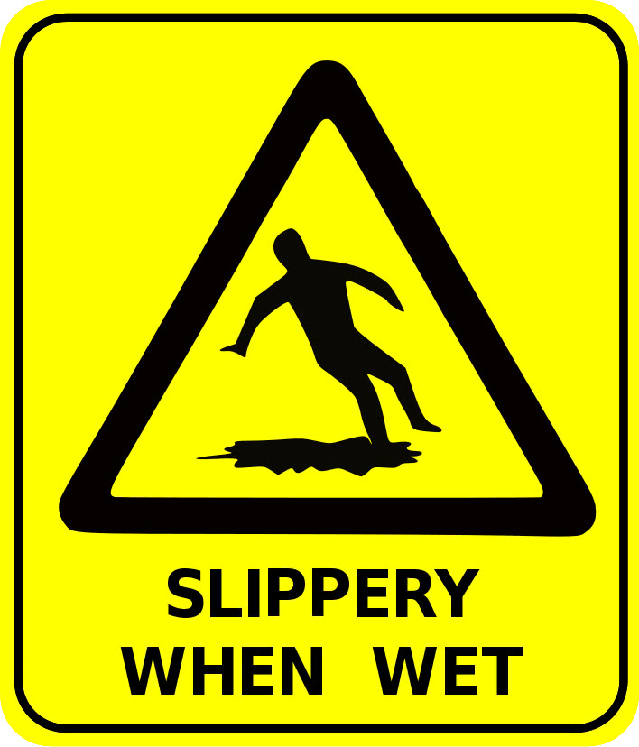 Safety Sign Slippery When Wet Signs Symbol Safety Signs