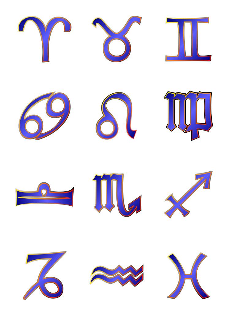 Zodiac Sign outlines - /signs_symbol/zodiac/outline_zodiac_symbols ...