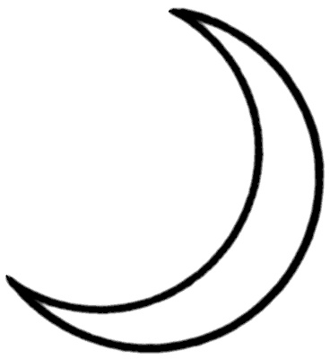 crescent moon   space  moon  moon phases  crescent moon png html space clipart for kids free space clip art black and white