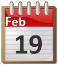 Calendar February 19 Time Calendar Flip Calendar 02