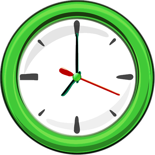 wall clock 1 green
