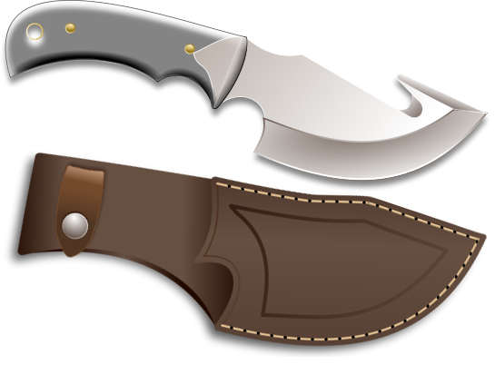 hunting knife with sheath   tools  hand tools  knife  hunting knife with sheath png html knife clip art free knife clip art cute