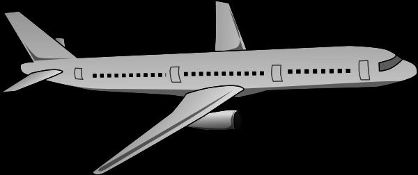 Passenger Jet Gray Travel Air Travel Planes Passenger