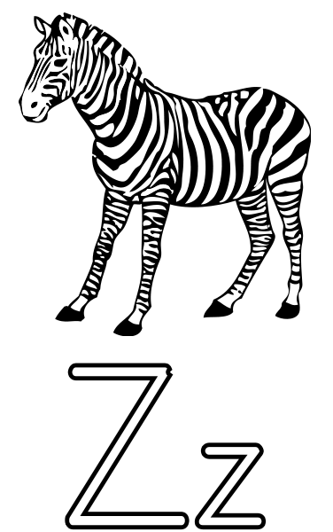 Z is for Zebra - http://www.wpclipart.com/education/alphabet ...