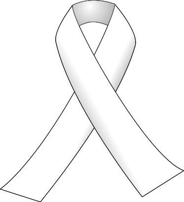 White Cancer Ribbon Clip Art