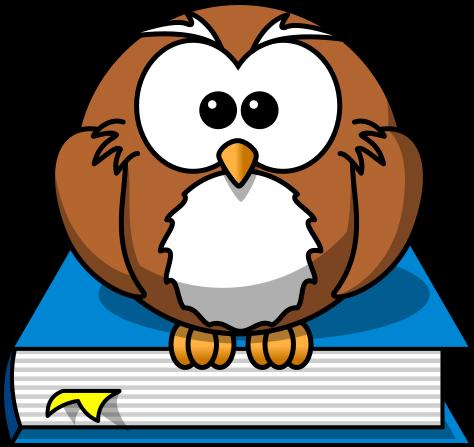 Books Cartoon Photos Cartoon Owl on Book Blue