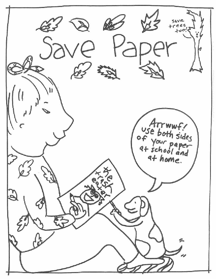 Planse De Colorat Eco Save Paper
