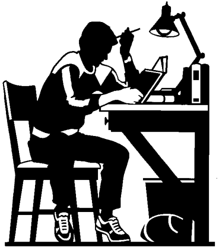 College Student Studying Clip Art 438 x 500