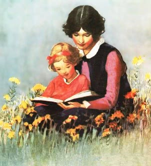 http://www.wpclipart.com/education/reading/reading_3/mother_daughter_reading_field.jpg