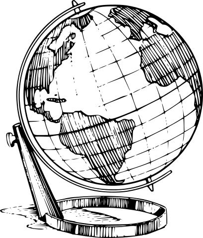 Globe Bw Education Supplies Globes Globes 2 Globe Bw
