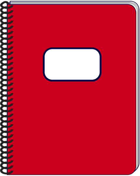 Spiral Notebook Png Spiral notebook red