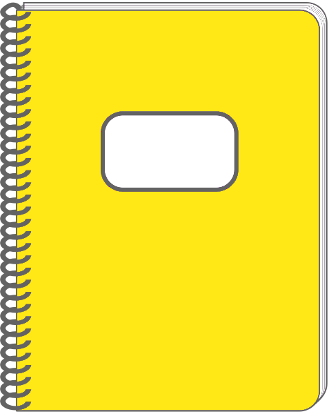 Spiral Notebook Png Spiral notebook yellow