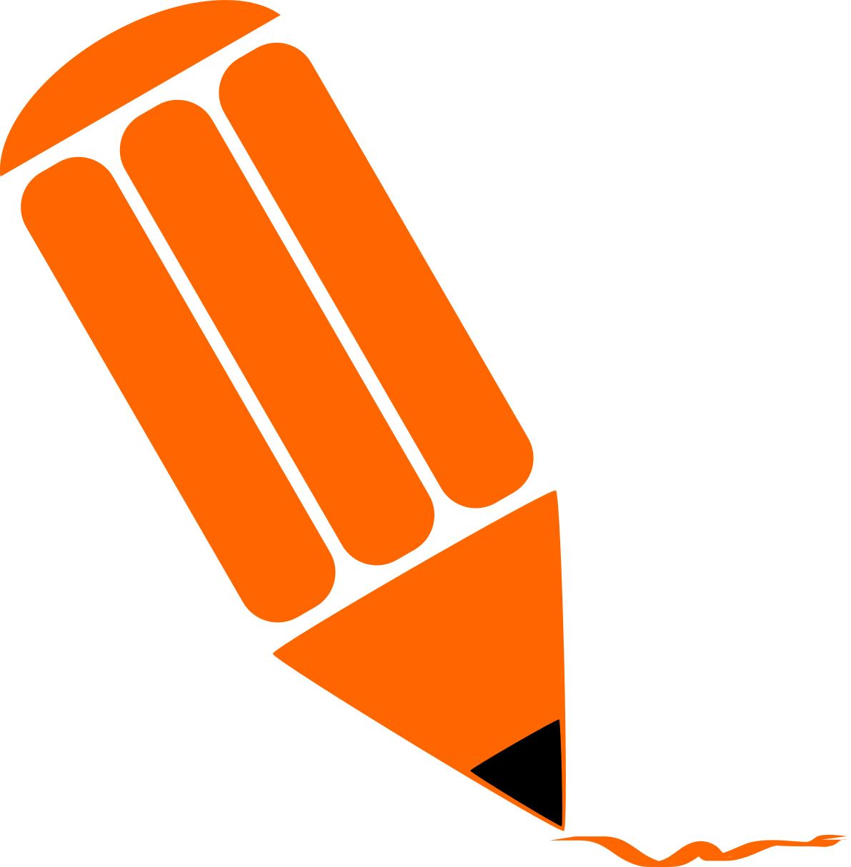 Pencil stylized orange - /education/supplies/pencils/stubby_pencils ...
